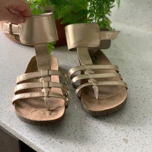 Sam Edelman Gold Ankle Sandal